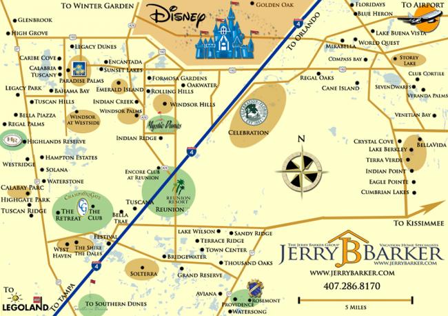 Orlando Resort Map