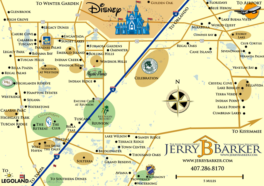 Orlando Resort Map