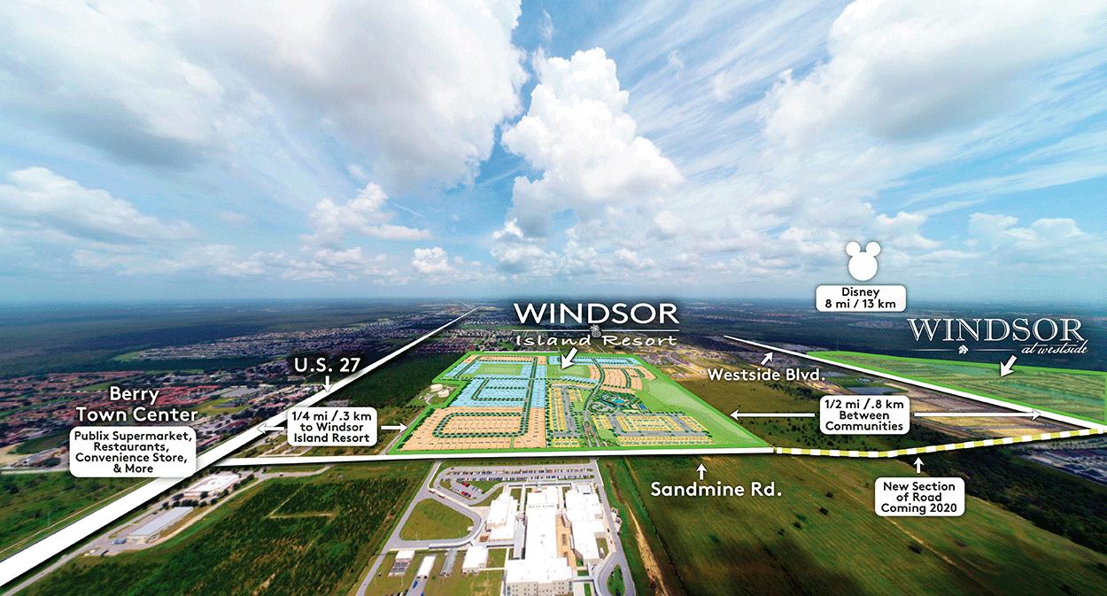 Windsor Island Resort Location
