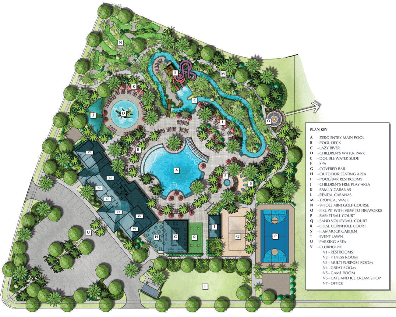 Windsor Island Clubhouse Map